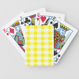 Yellow Gingham Bicycle Playing Cards