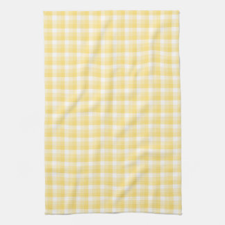 Yellow Gingham Check Pattern. Kitchen Towels
