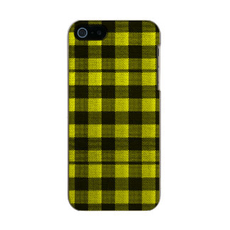 Yellow Gingham Checkered Pattern Burlap Look Incipio Feather® Shine iPhone 5 Case