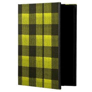 Yellow Gingham Checkered Pattern Burlap Look Powis iPad Air 2 Case