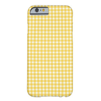 Yellow Gingham Pattern Barely There iPhone 6 Case