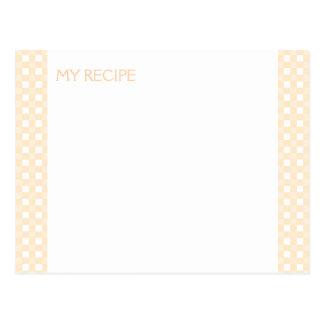 Yellow Gingham Recipe Cards Postcard