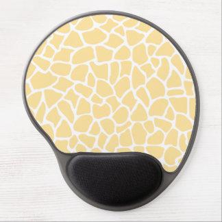 Yellow Giraffe Pattern Animal Print Design Gel Mouse Mats