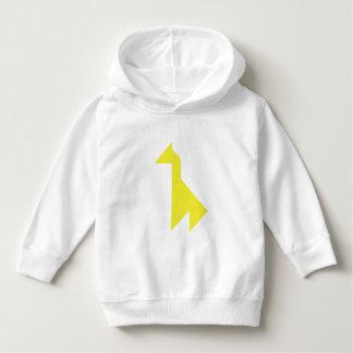 Yellow giraffe Tangram Hoodie