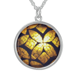Yellow Glass texture Necklace