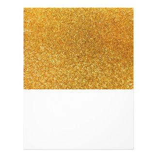 Yellow glitter 21.5 cm x 28 cm flyer