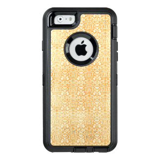 Yellow Gold Aged Damask Pattern OtterBox Defender iPhone Case
