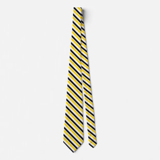 Yellow Gold and Black University Stripe Tie