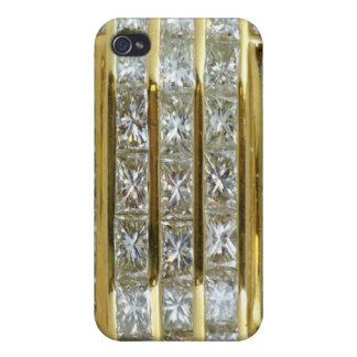 Yellow Gold and Diamonds Fantasy Speck iPhone 4 Ca iPhone 4 Cases