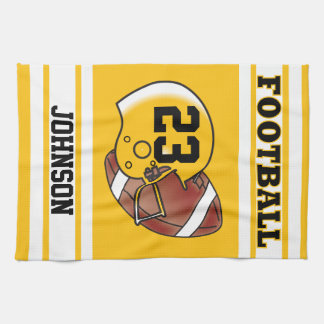 Yellow Gold and White Football Towels