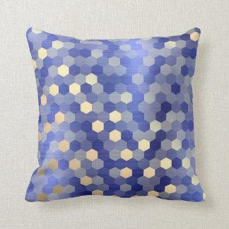 Yellow Gold Cobalt Sapphire Blue Hexagon VIP1 Cushion