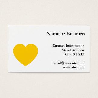 Yellow Gold Heart Business Card