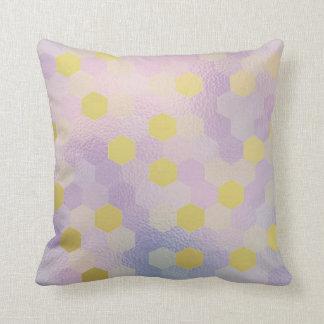 Yellow Gold Purple Lilac Honeycumb IT- DESIGN Cushion