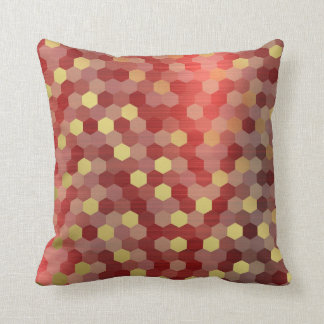 Yellow Gold Red Burgundy Cyber Numeric IT- DESIGN Cushion