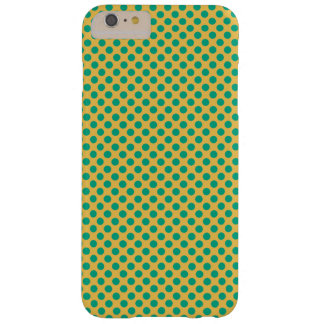 Yellow Gold With Emerald Green Polka Dots Barely There iPhone 6 Plus Case
