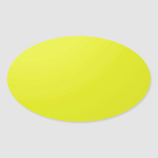 Yellow Golden Color Shade Blanks: Add text image Oval Sticker