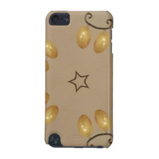 Yellow Golden Egg Pattern Easter Eggs Rustic Beige iPod Touch 5G Cover