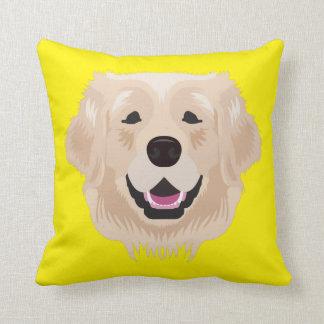 Yellow Golden Retriever Cushion