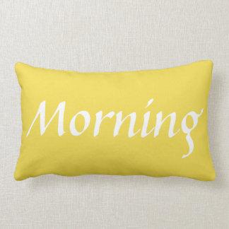 Yellow Good Morning Lumbar Pillow 2 of 2