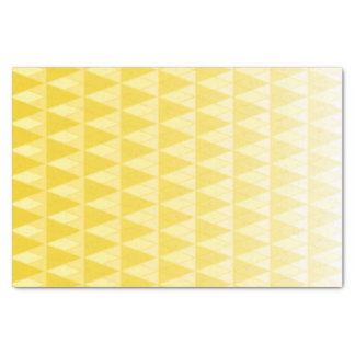 Yellow Gradient Fading Triangles Print Tissue Paper