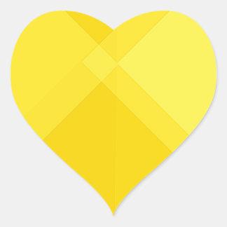 yellow gradient monochrome grid summer sun bright heart sticker