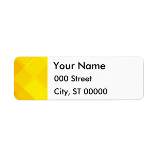 yellow gradient monochrome grid summer sun bright return address label