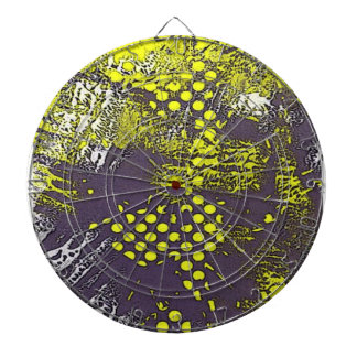 Yellow Graffiti Abstract Dartboard