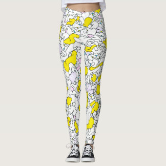 Yellow Graffiti Leggings