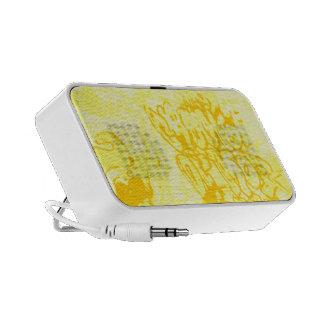 Yellow Graffiti Speakers