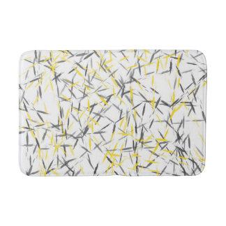 Yellow Gray Abstract Bath Mats