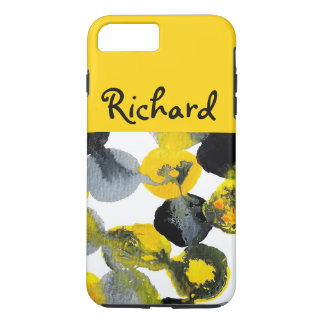 Yellow, Gray and Black Intertactions iPhone 7 Plus Case