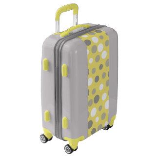 Yellow Gray Polka Dot Luggage