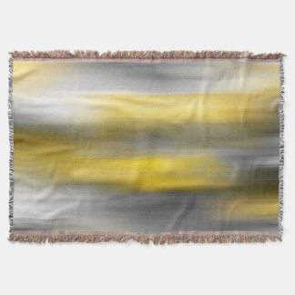 Yellow Gray Vertical Abstract Throw Blanket