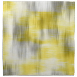Yellow Gray White Abstract Napkin
