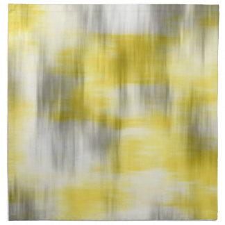 Yellow Gray White Abstract Napkin
