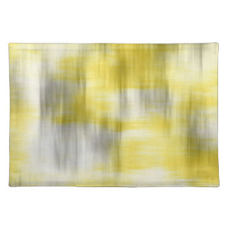 Yellow Gray White Abstract Placemat