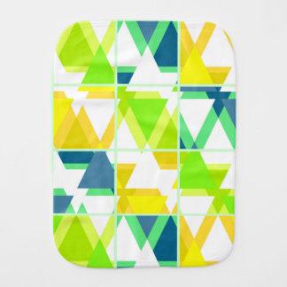 Yellow green abstract burp cloth