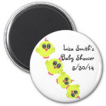 Yellow Green Baby Bird 6 Cm Round Magnet