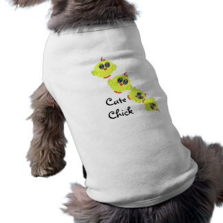 Yellow Green Baby Bird Sleeveless Dog Shirt
