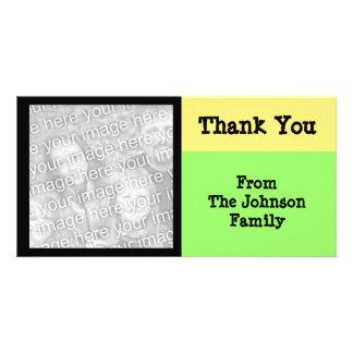 yellow green black photo greeting card