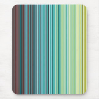 Yellow, Green, Blue and Brown Stripes mousepad