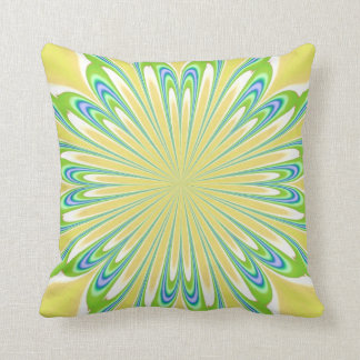 Yellow Green Blue Flower American MoJo Pillows