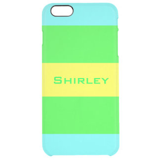 Yellow, Green, Blue Wide Stripes by Shirley Taylor Clear iPhone 6 Plus Case