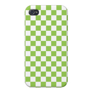 Yellow Green Checkerboard Pattern Case For iPhone 4