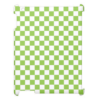 Yellow Green Checkerboard Pattern Cover For The iPad 2 3 4