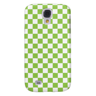 Yellow Green Checkerboard Pattern Galaxy S4 Cover