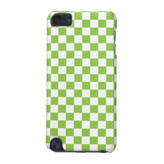 Yellow Green Checkerboard Pattern iPod Touch 5G Cover