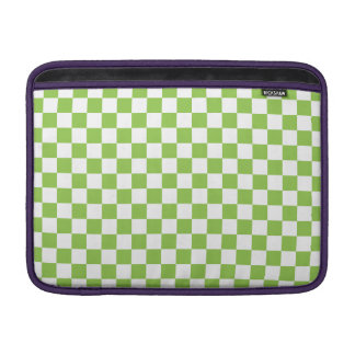 Yellow Green Checkerboard Pattern MacBook Sleeve