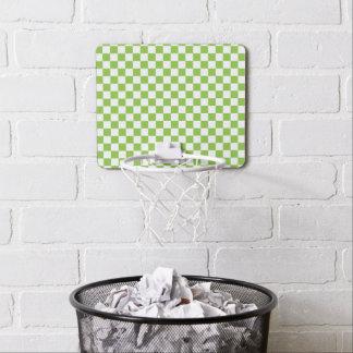 Yellow Green Checkerboard Pattern Mini Basketball Hoop