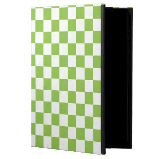 Yellow Green Checkerboard Pattern Powis iPad Air 2 Case